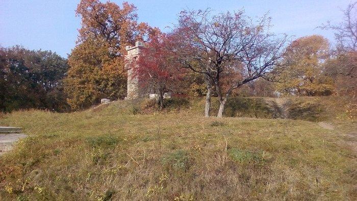 Залишки земляних укріплень козаків...
