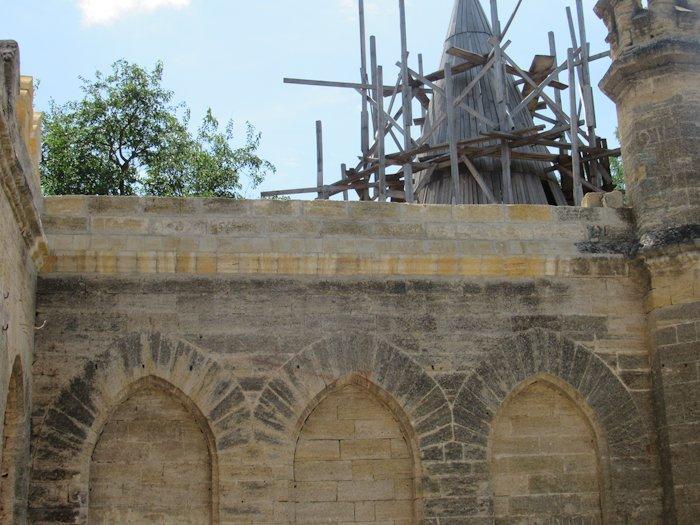 Фрагмент стіни після реставрації