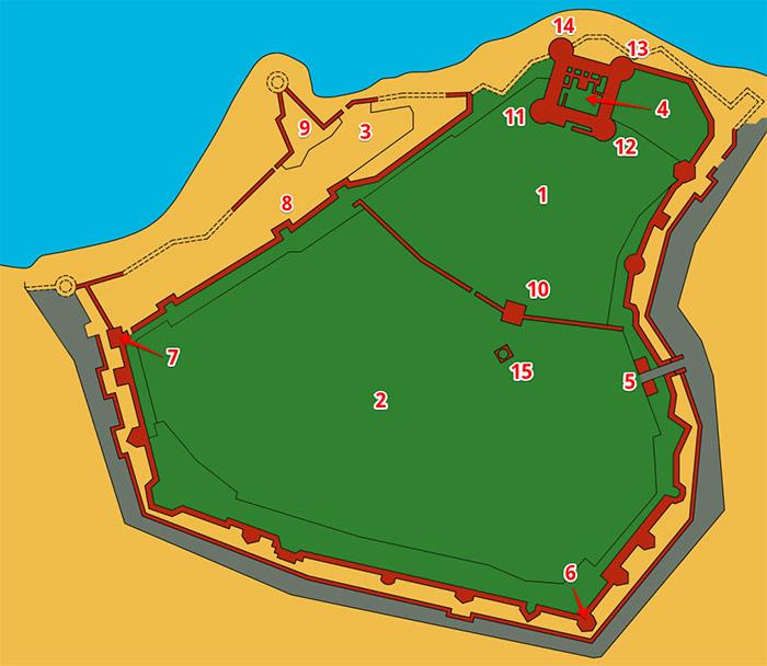 Карта Аккерманської фортеці