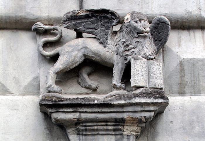 Герб Венеції на кам'яниці у Львові