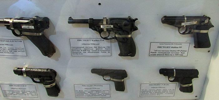 Різні види пістолетів