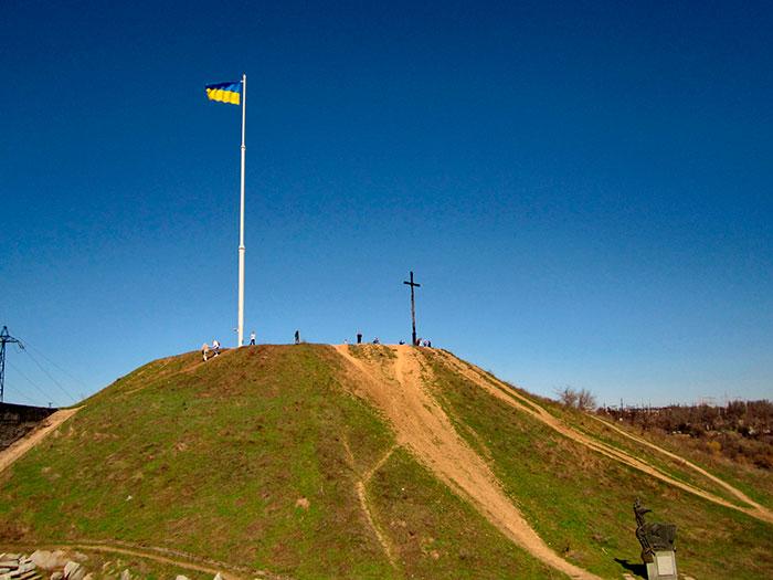 Флагшток з прапором України