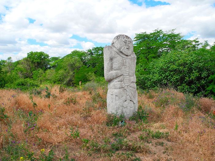 Скульптура із каменю в Скіфському Стані