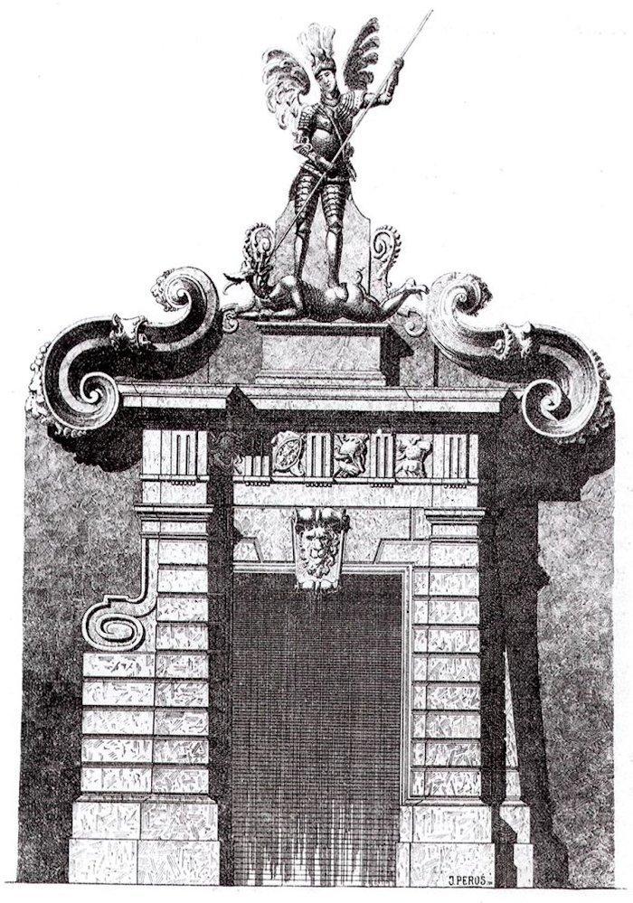 Східний портал у внутрішньому подвір'ї королівського арсеналу