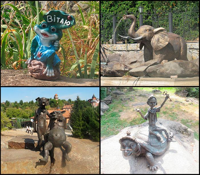 Скульптури з казок та мультфільмів