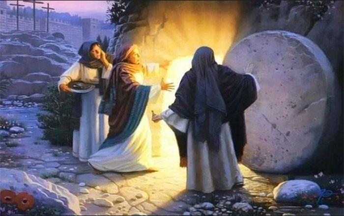 Мироносиці біля входу до гробу Господнього
