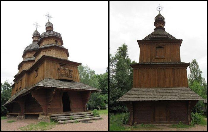 Козацька церква та дзвіниця