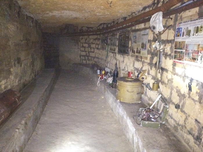 Музейні «виставки» всередині катакомб
