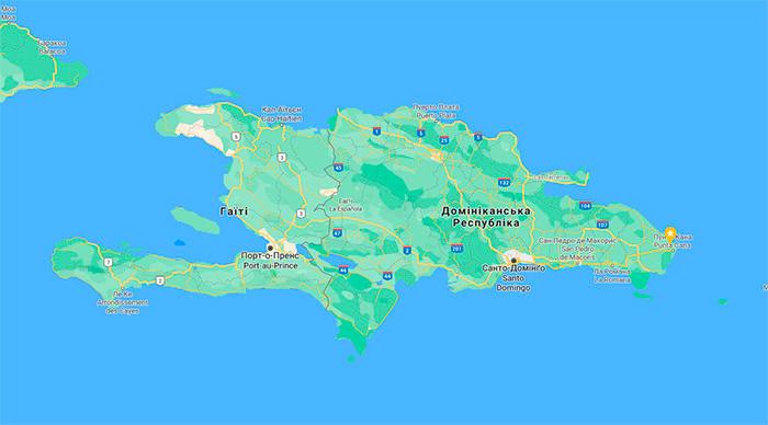 Кіскея – Гаїті – Еспаньола – Санто-Домінго